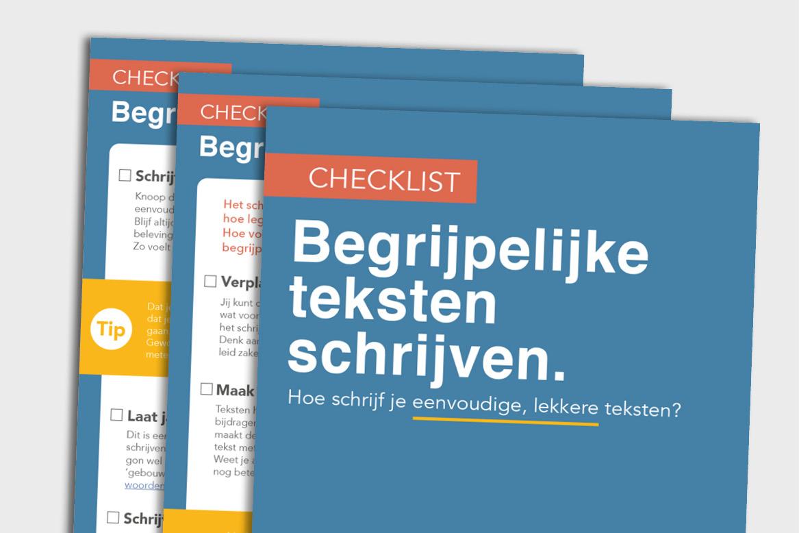 Leer begrijpelijk schrijven met deze checklist.
