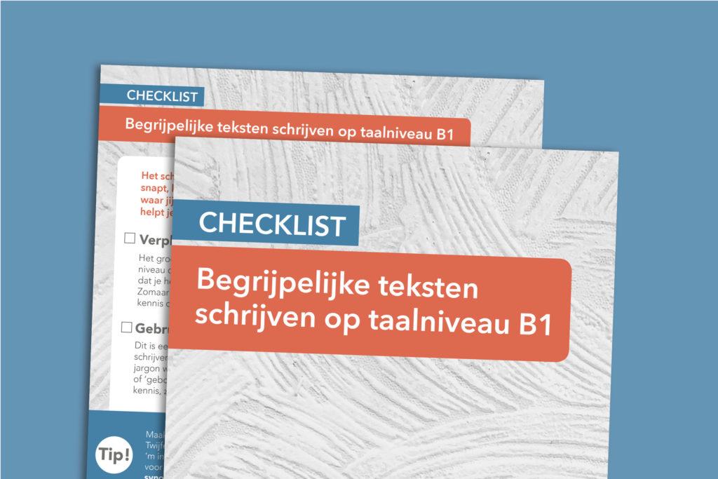 Wat is taalniveau B1? In deze checklist lees je het!