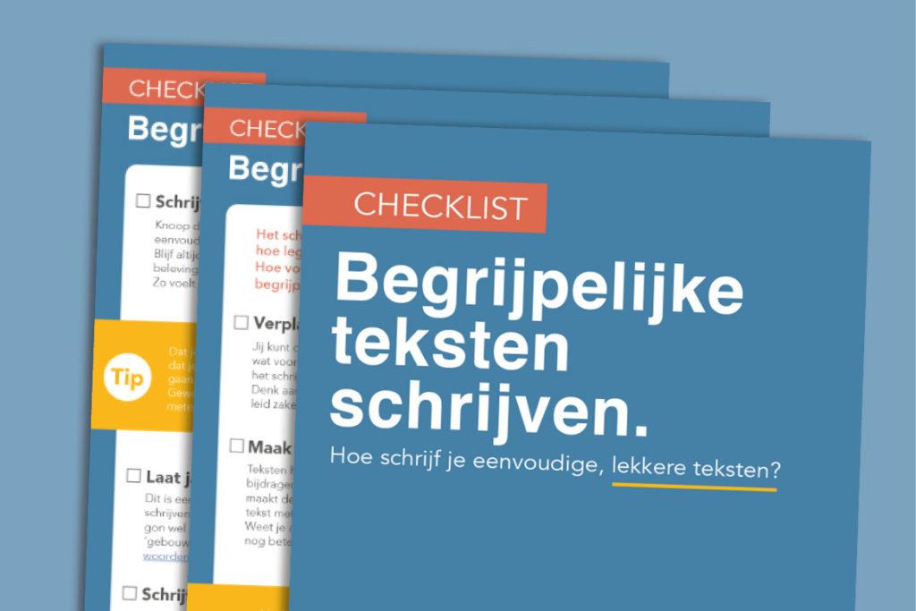 Begrijpelijke teksten schrijven? Leer het met deze checklist.