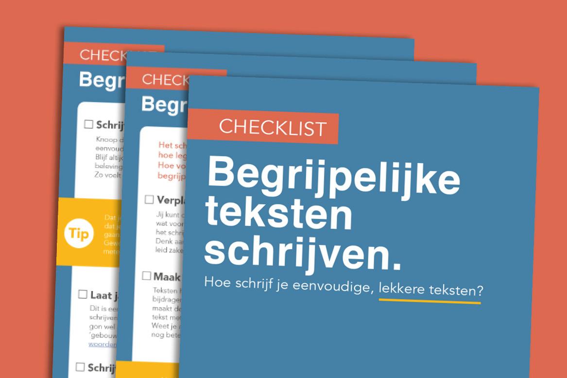 Begrijpelijk schrijven - leer het met deze checklist.