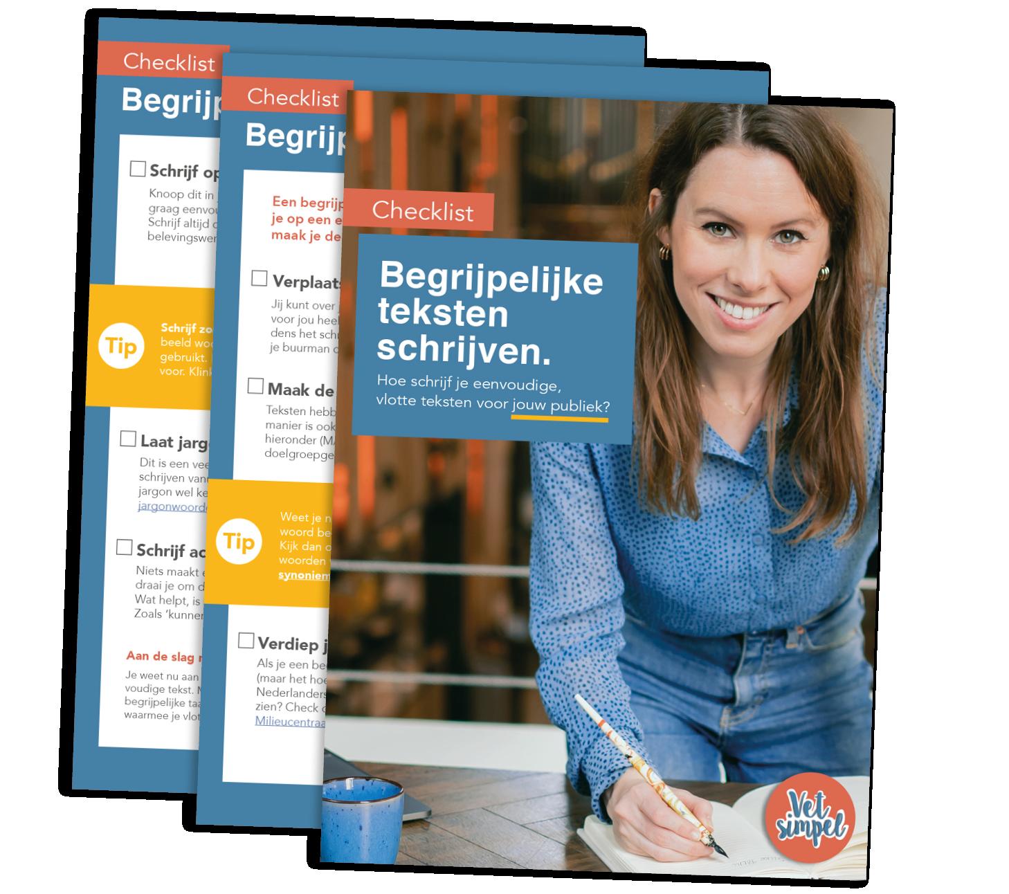 Checklist begrijpelijk schrijven